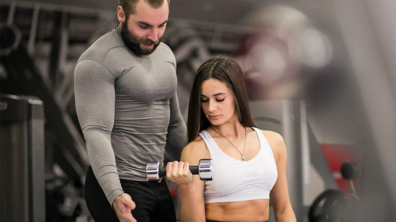 Body builder are making body via gym