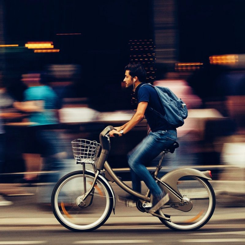 Bicycle are best for delivering in short distances