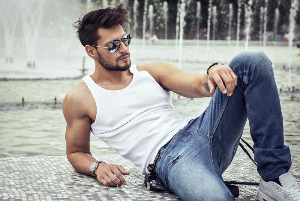 Glasses with a vest makes sense for fashion