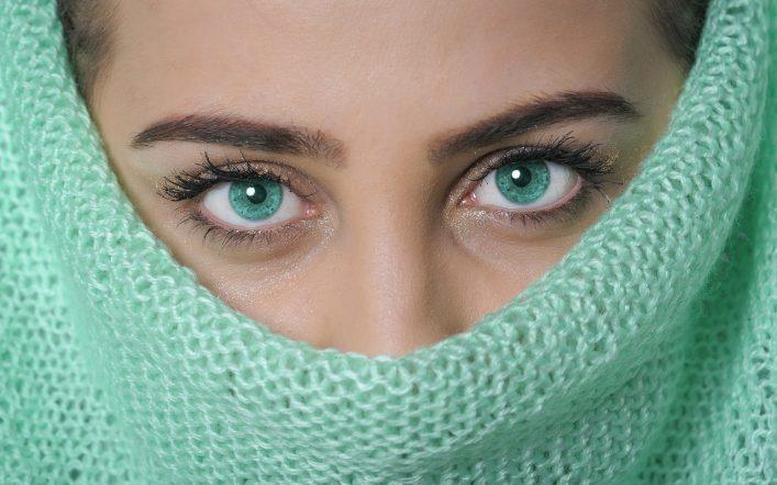 Woman Portrait Model Green Color